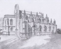 Rosslyn Chapel Drawing by dashinvaine