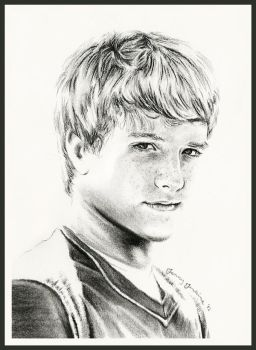 Peeta Mellark by thewholehorizon