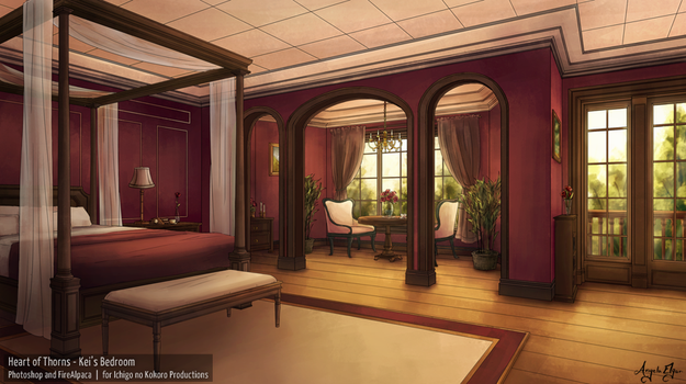 Heart of Thorns (VN) - Kei's Room Day by ange-la-ange