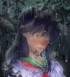 Sad Kagome by TF-KidoNightmare