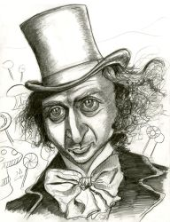 Gene Wilder as Willy Wonka by Caricature80
