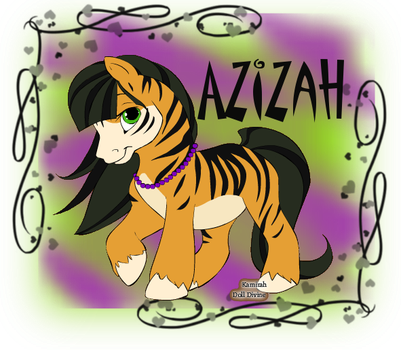 Azizah as a pony by Bells-SnowPaws