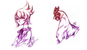 Nature Twins: Chicken by glaciesClOvEr