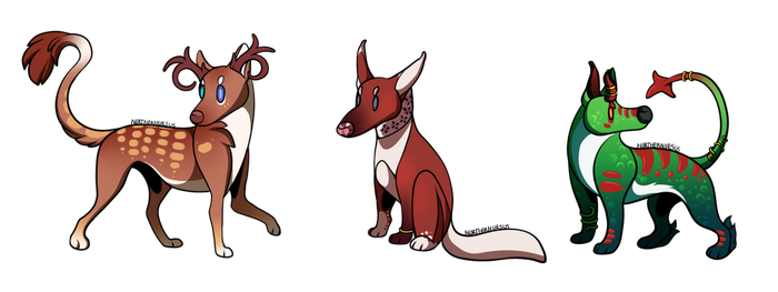 [FINISHED YCH] Chibi Doggies by NorthernUrsus