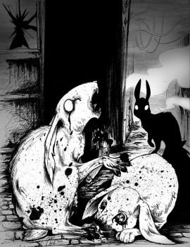 Those Chosen Few concept: Shadow and Toe Eating by squonkhunter
