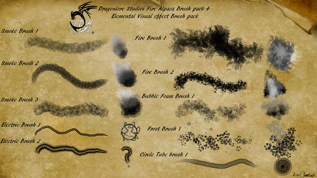 Brush pack 4 (March) (Now Free!) by DragonLoreStudios