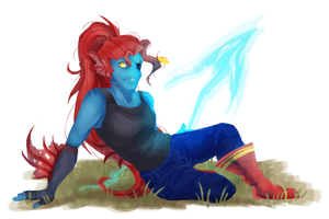 Undyne Warmup by y0waifu