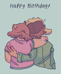 Happy birthday pines twins by iLee-Font