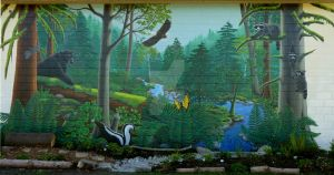 Vancouver School Nature Mural by Artist-Kim-Hunter