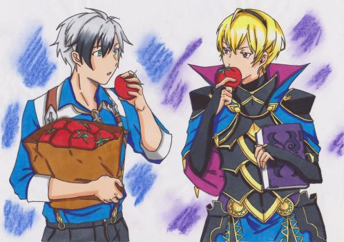 ToX2 X FE14 Crossover:Ludger and Leo by ClaireRoses