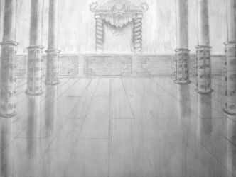 Fire Lord's Throne Room Pencil by Separate-The-Earth