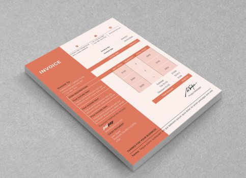 Invoice Template by graphicshaper2016