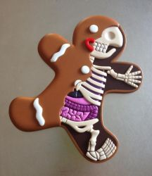 Sculpted anatomical Gingerbread Man by freeny