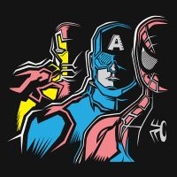 Spidey, Cap and Iron Man Tee by Jurassickevin