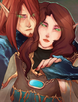 Ikanis and Ryssa - Commission by Iseijin