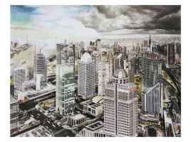 Shanghai city drawing by kinobuta