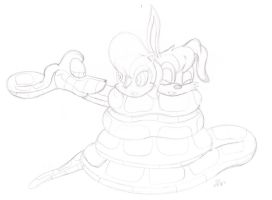 Kaa's Double Reunion sketch by lol20