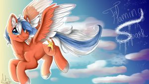 COMMISSION: Flaming Spark by Candy-Gold-Gallery