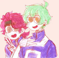 BNHA OC - Brendon and Valentino by akkame