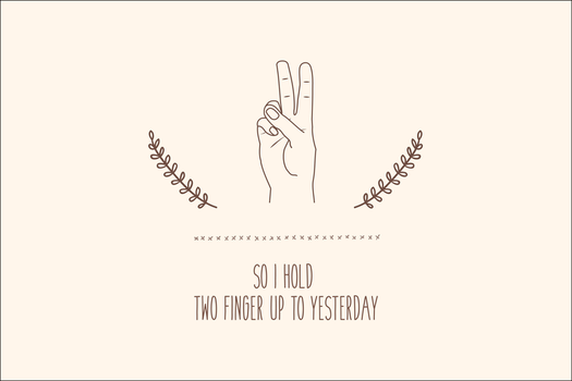 Two Fingers - Wallpaper by turnthelighstoff