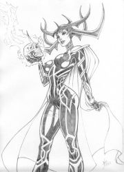 Hela Pinup by broken-nib