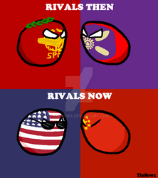 Countryballs Comic #15 Rivals Then and Now by TheMewx