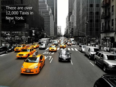 New York Taxis by SammylovesCookies
