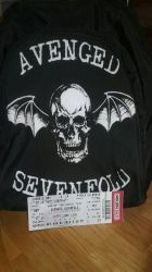 Avenged ticket and backpack  by A7XFan666