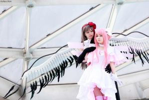 Homucifer and Madokami cosplay by Achico-Xion