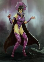 Evil Lyn sketch 2 by adivider