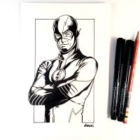Inktober Day 4 - The Flash by D-MAC