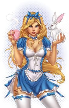 Zenescope AliceInWonderland, pencils: P. Pantalena by sinhalite