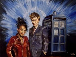 Tenth Doctor and Martha Jones (Final Version) by SirGunky