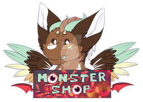 Monster Shop Logo by MonsterMeds