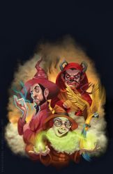 Terry Pratchett Eric cover illustration by katea