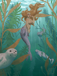Commission: Selkie by AimOfDestiny