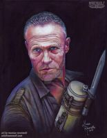 Merle Dixon (Michael Rooker) - The Walking Dead by The-Art-of-Ravenwolf