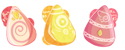 Koshi: Mystery Pallet Eggs: set 3 (set price) $5 by Littlelostdemonchild