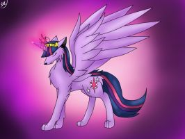 Wolf-Alicorn Twilight (speedpaint) by Shinkou-san