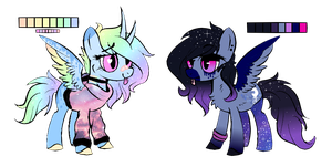 Royal Sisters x Rainbow Dash - Auction OPEN by CHEESE-CHEDDAR