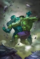 Hulk vs Abomination by toonfed