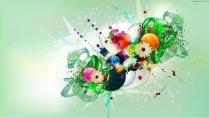 Green Collage Splash by StarwaltDesign