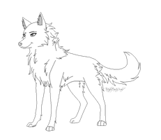Lineart for adopts by TotallyNotaWolf