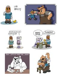 Little Wheezy and Porkrind Dump by Arkham-Insanity