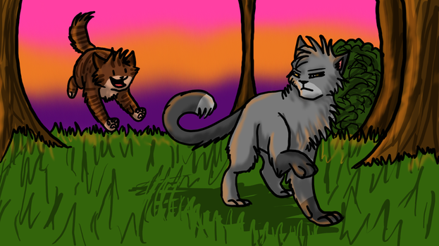 Tigerpaw and Thistleclaw REDO by GingerFlight