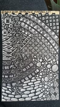 my very first zentangle inspired art piece by branika