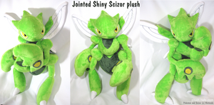 Pokemon plush - Shiny Scizor by TeacupLion