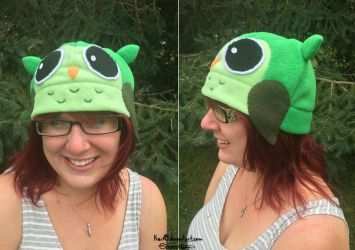 Green Owl Hat by Kai45