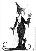 Inktober 2016 : Socialite witch by kineko