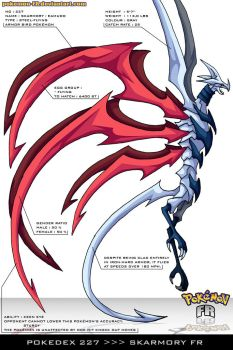 Pokedex 227 - Skarmory FR by Pokemon-FR